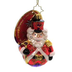 Christopher Radko MAN OR MOUSE NUTCRACKER? GEM Glass Mouse King Guard 1019751