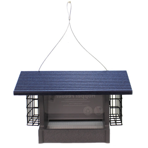 Home & Garden HOPPER FEEDER Plastic Bird Recycled Material Made Gshf200s 40621