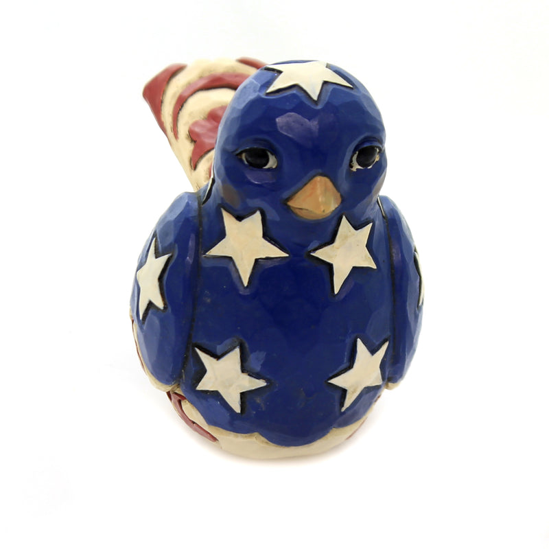Jim Shore FEATHERED IN FREEDOM Piolyresin Red Wihte Blue Bird 6003978