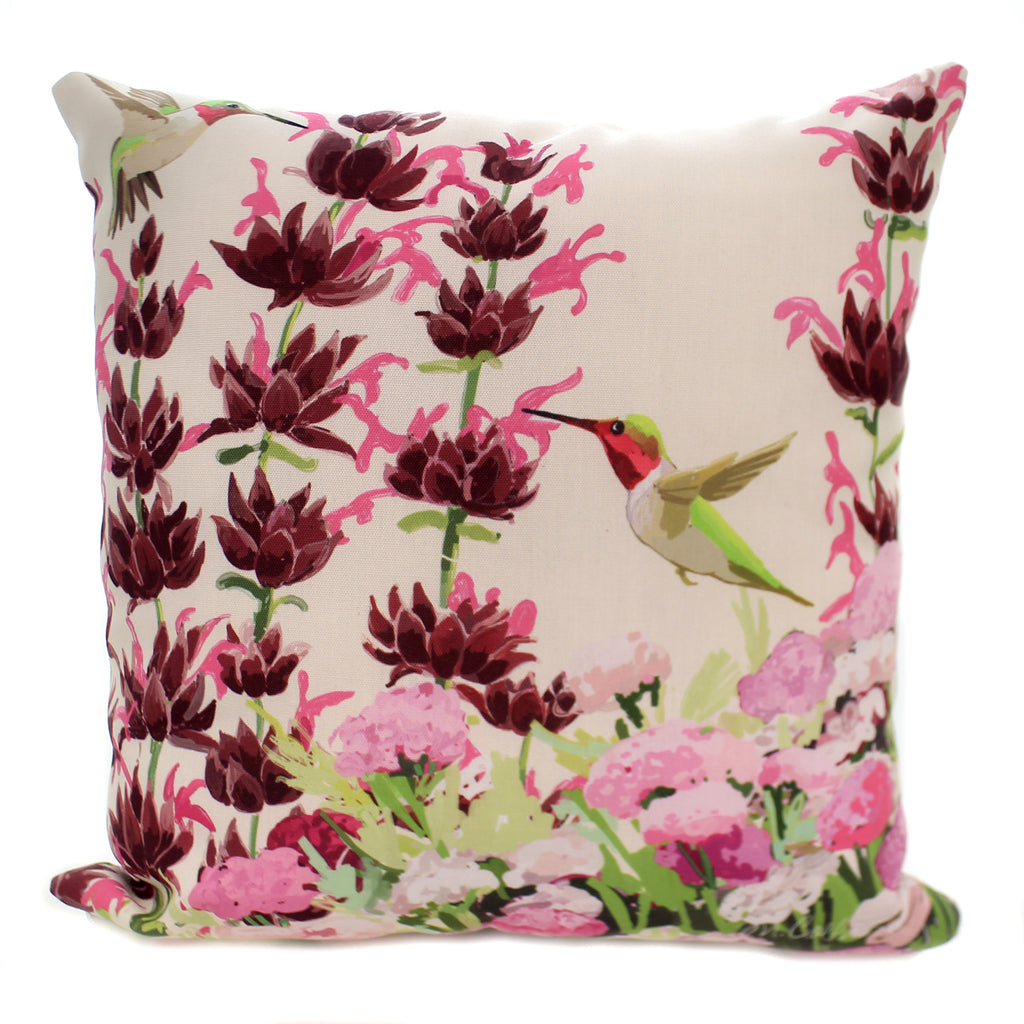 Home Decor CALIFORNIA NATIVE FLOWERS HUMMINGBIRD Polyester Climaweave Slcnhb