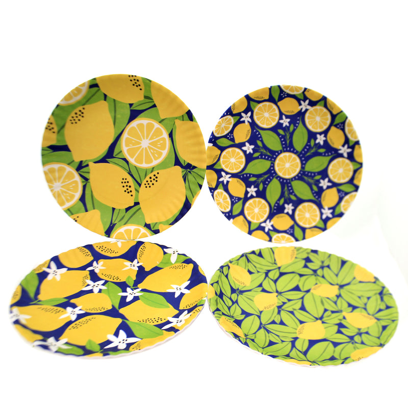 Tabletop LEMON PAPER PLATES Melamine Patty Rybolt Me0400