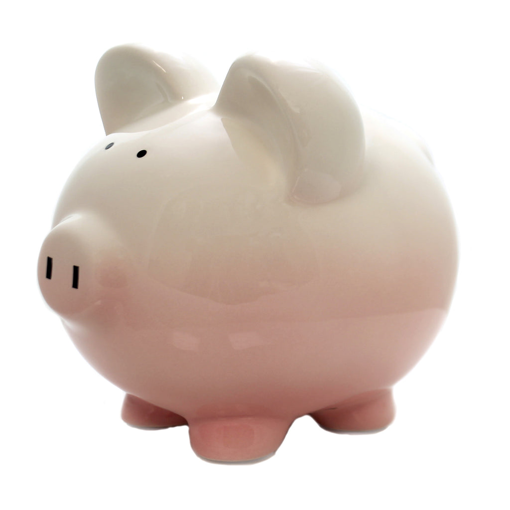 Bank PINK OMBRE PIGGY BANK Ceramic Save Money 3707Pk