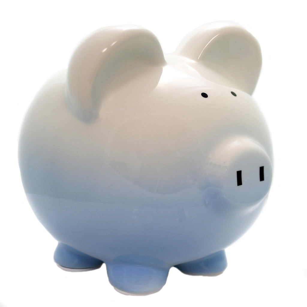 Bank BLUE OMBRE PIGGY BANK Ceramic Money Save 3707Bl