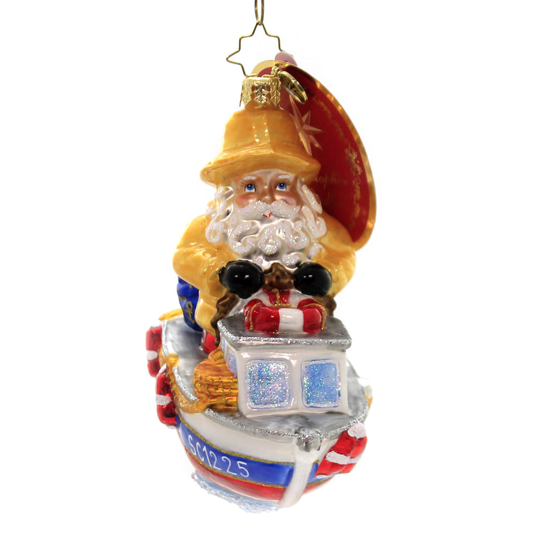 Christopher Radko WE'RE GONNA NEED A BIGGER BOAT Ornament Captain Santa 1019828