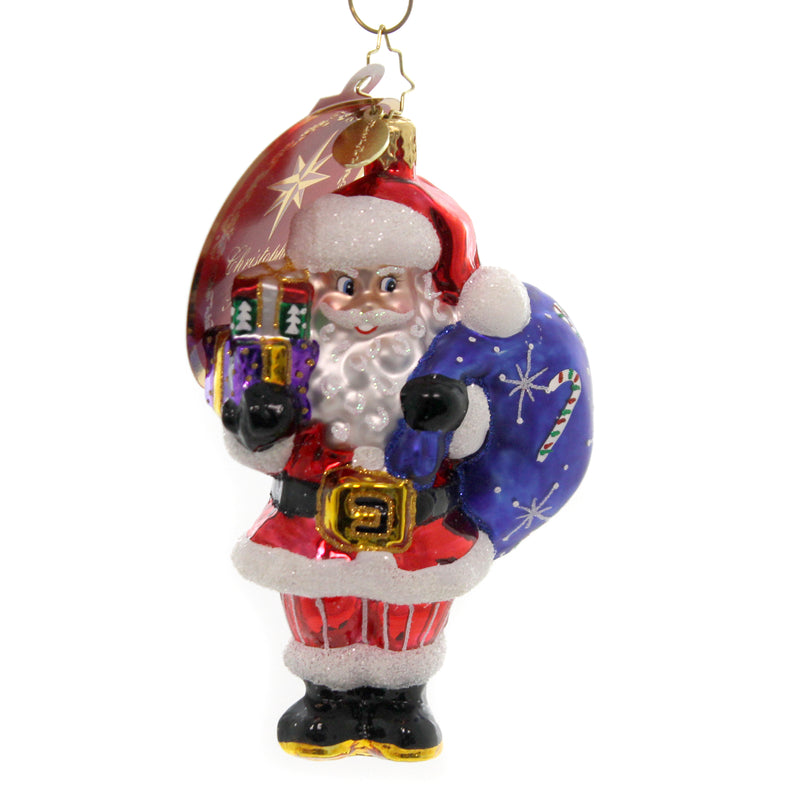 Christopher Radko JOLLY SAINT NICK Glass Ornament Santa Christmas 1019932