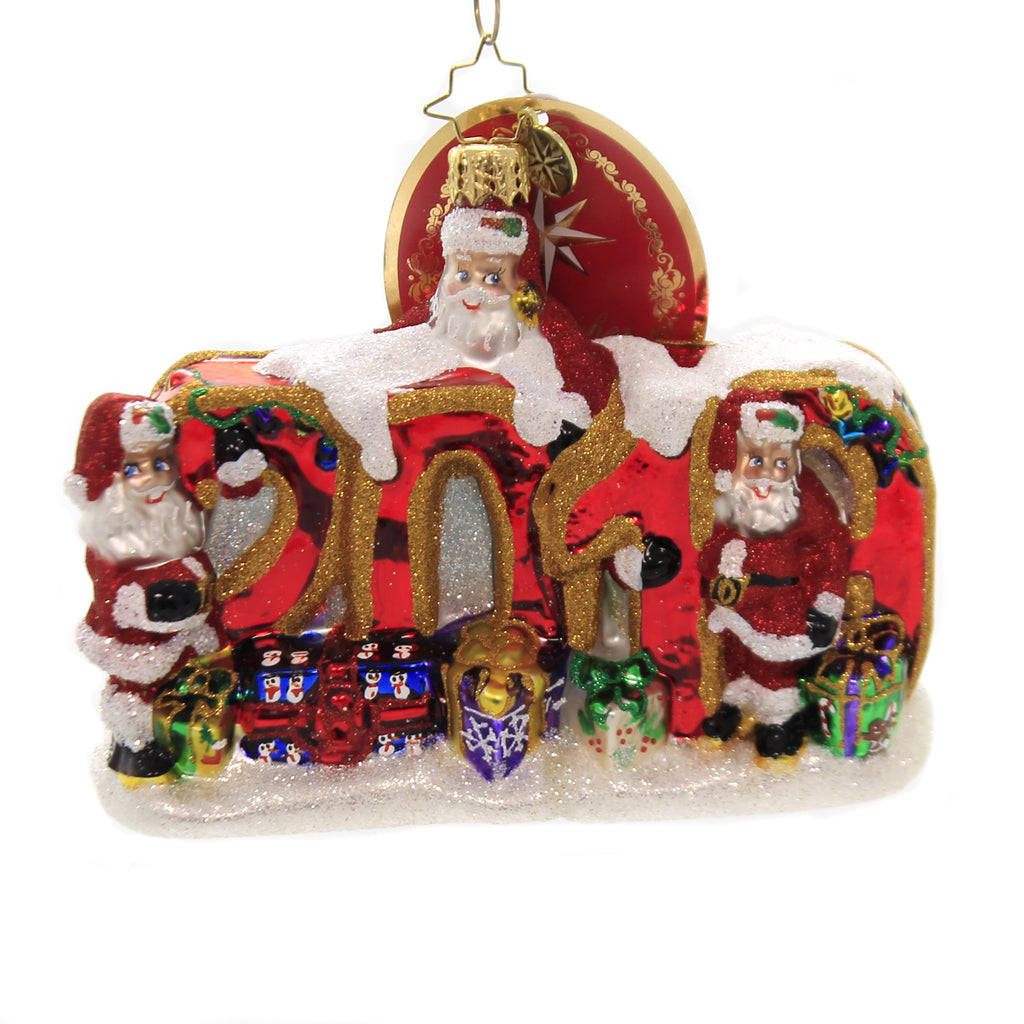 Christopher Radko 2019 MEETING OF THE MINDS Ornament Dated Santa Christmas 1019966