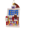 Christopher Radko SANTA'S PEZ HOUSE Glass Ornament Candy Toy 1020048