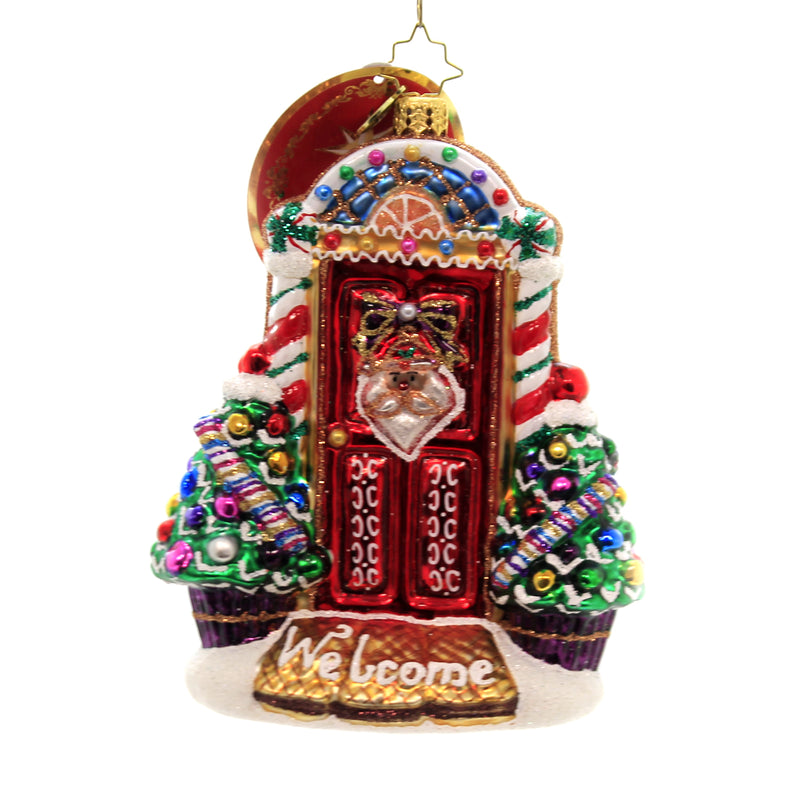 Christopher Radko SWEET HOME DOOR DECOR Ornament Christmas Santa Face 1019949