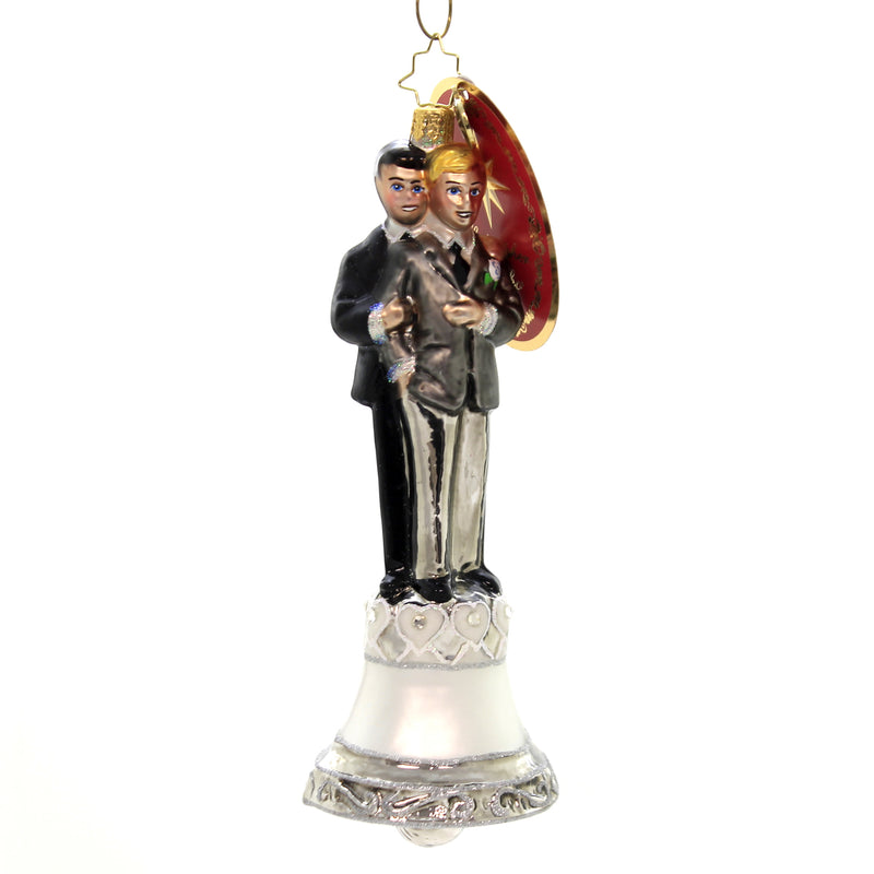 Christopher Radko DEDICATED DEVOTION Ornament Men Male Love Is Love 1020037
