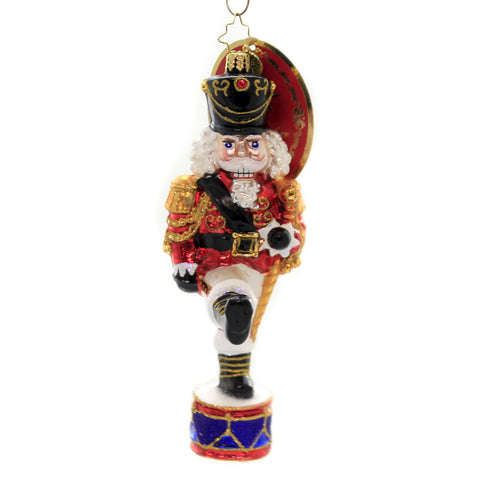Christopher Radko SHINY BRITE BALL ORNAMENT. Traditional Brites Christmas 4027414M Striped
