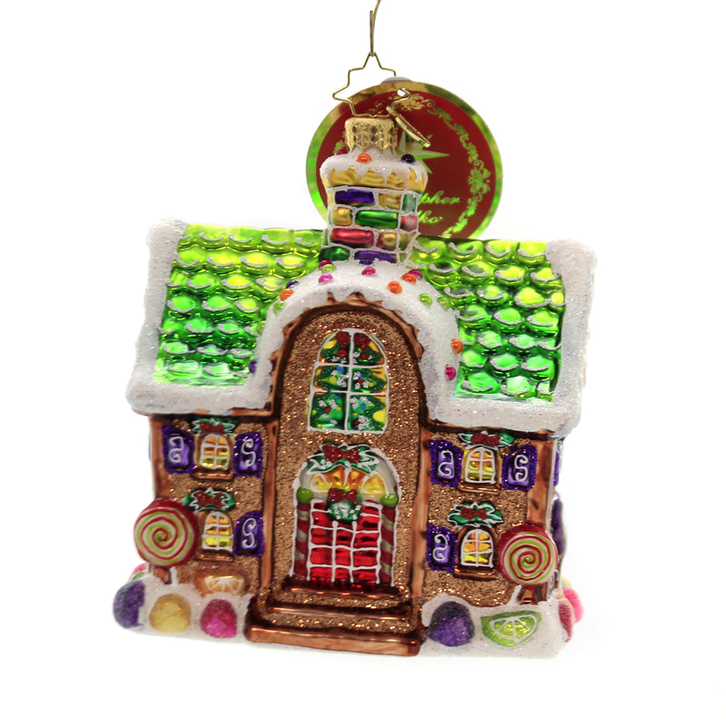 Christopher Radko HOME FOR THE HOLIDAYS . Ornament Gingerbread House 1019676
