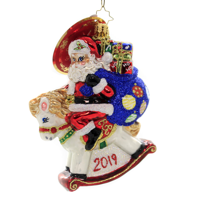 Christopher Radko ROCKIN AROUND 2019 Ornament Dated Babys 1St Horse 1019780