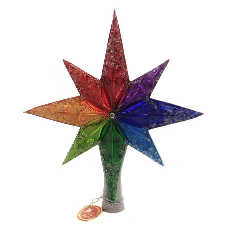 Christopher Radko RAINBOW STELLAR FINIAL Tree Topper Gay Love Is Love 1020072
