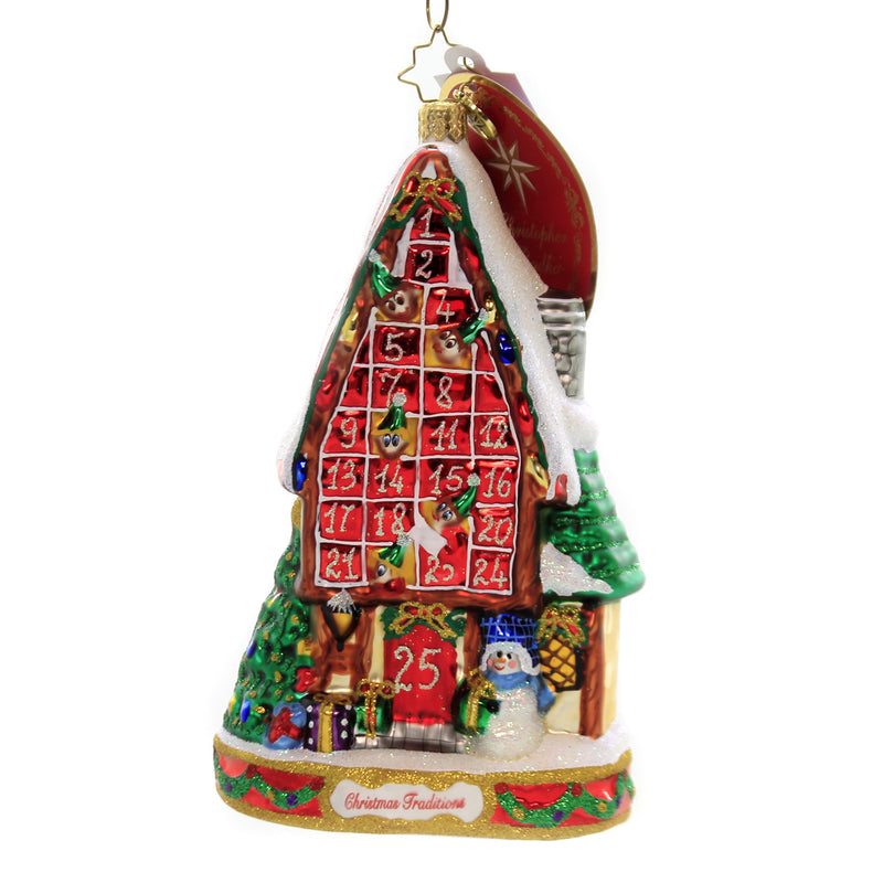 Christopher Radko FESTIVE ADVENT CALENDAR Glass Christmas Traditions 1020059