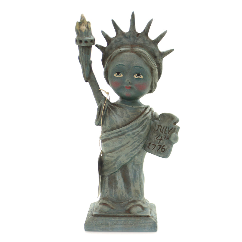 Patriotic LITTLE MISS LIBERTY Polyresin July Fourth Torch Hh8851