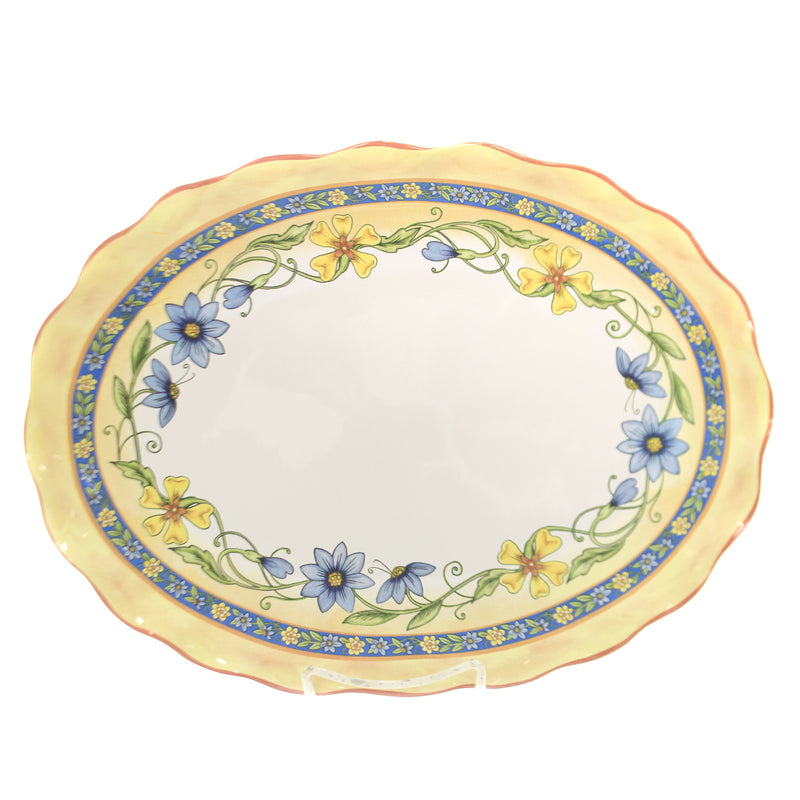 Tabletop TORINO OVAL PLATTER Ceramic Entertain Flowers 26768