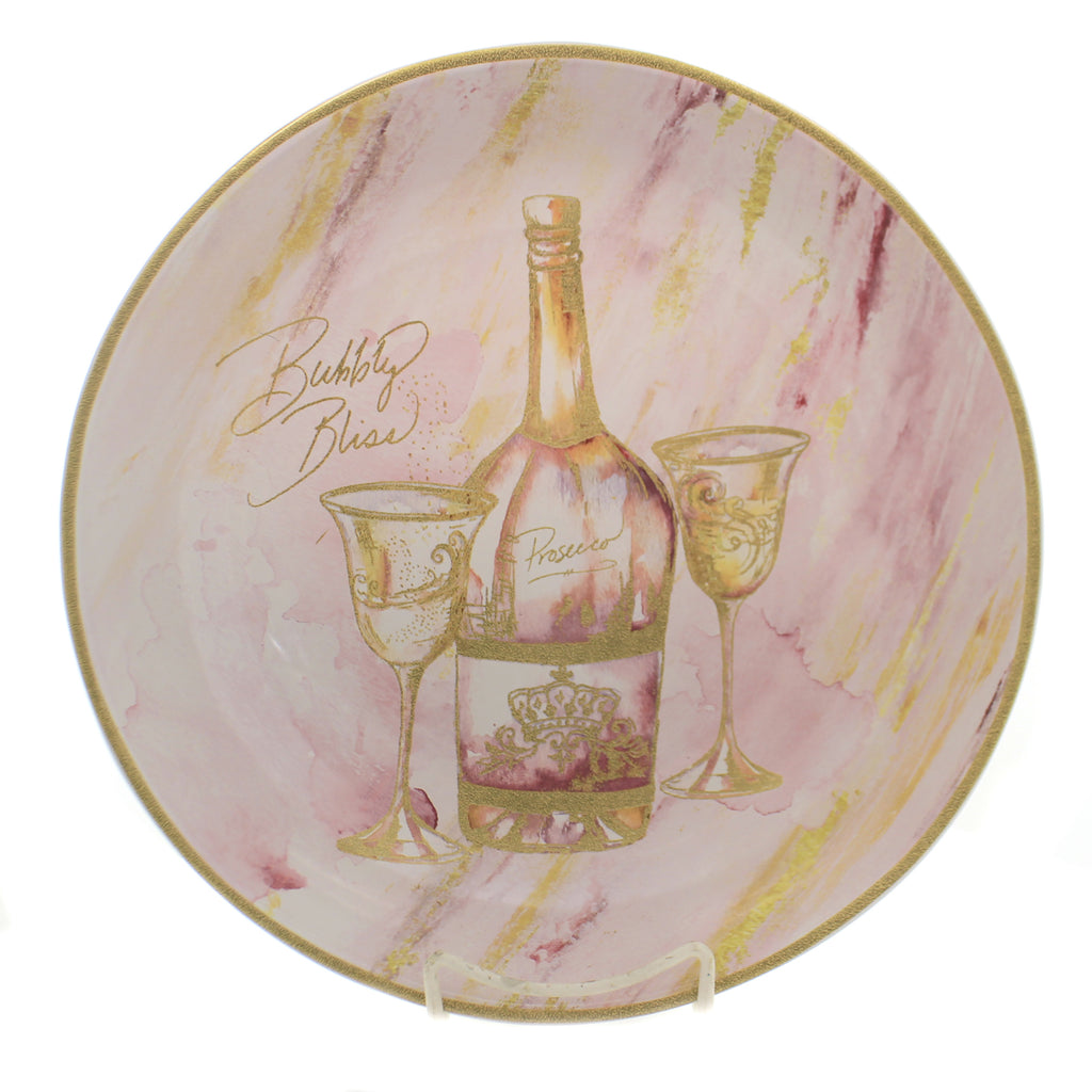 Tabletop WINE ALL THE TIME PASTA BOWL Ceramic Bubbly Bliss Bottle 26828