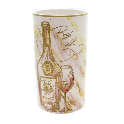 Tabletop WINE ALL THE TIME COOLER Ceramic Bubbly Bliss Drink 26831 40868