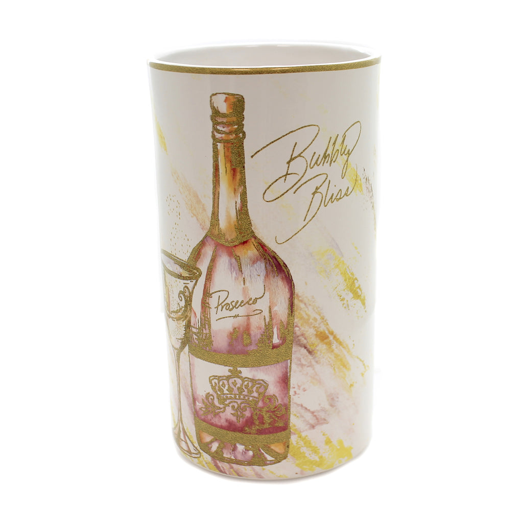Tabletop WINE ALL THE TIME COOLER Ceramic Bubbly Bliss Drink 26831