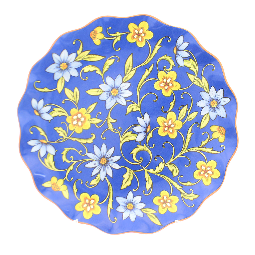 Tabletop TORINO ROUND PLATTER Ceramic Flowers 26766