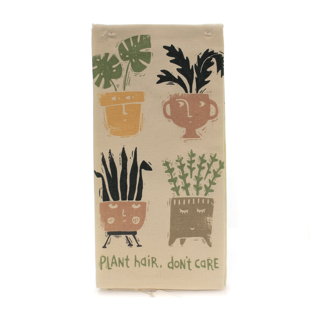 Tabletop PLANT HAIR DISH TOWEL Fabric Linen-Cotton Blend 102669