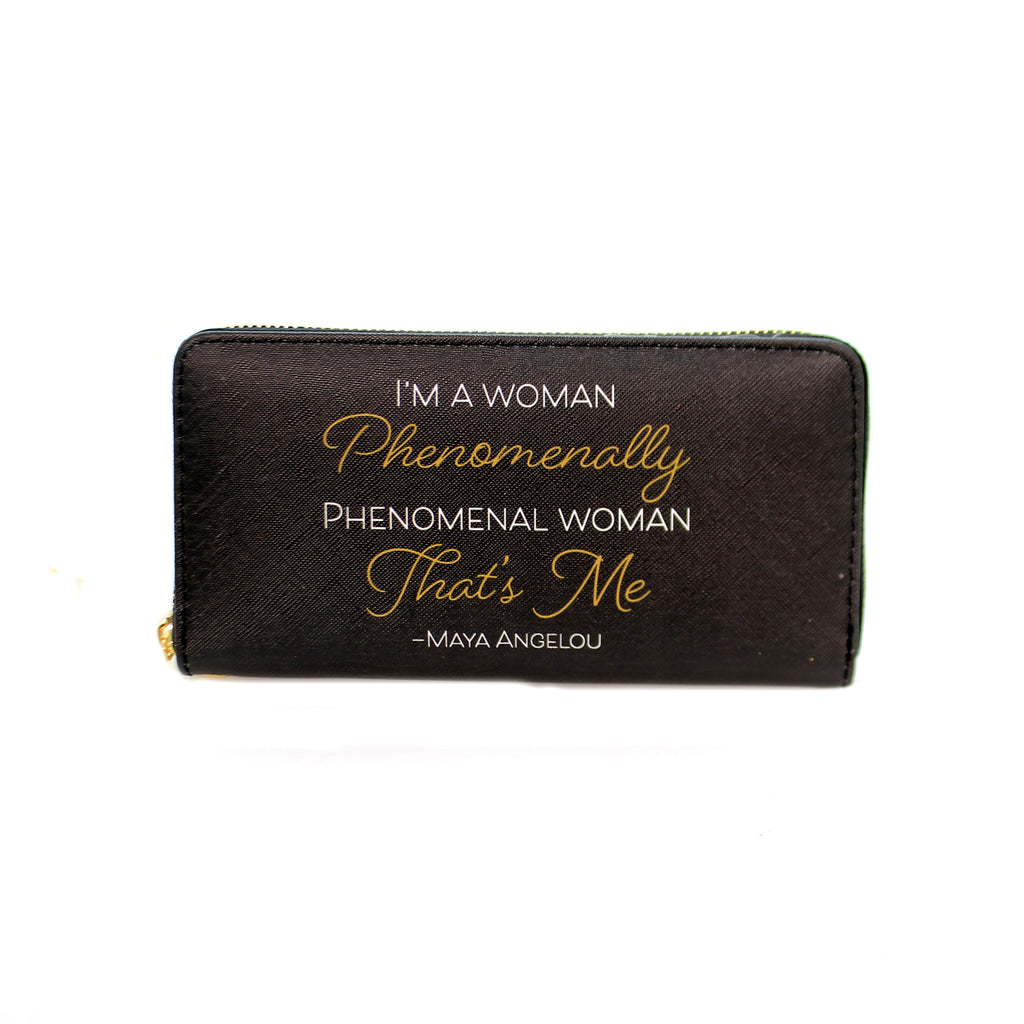 Handbags MAYA ANGELOU PHENOMENAL WALLET Vinyl Wristlet Wl12