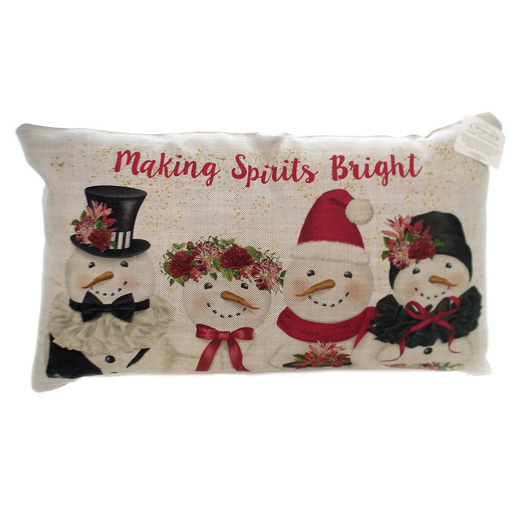 Christmas SNOW PEOPLE PILLOW Polyester Making Spirits Bright Sp122005