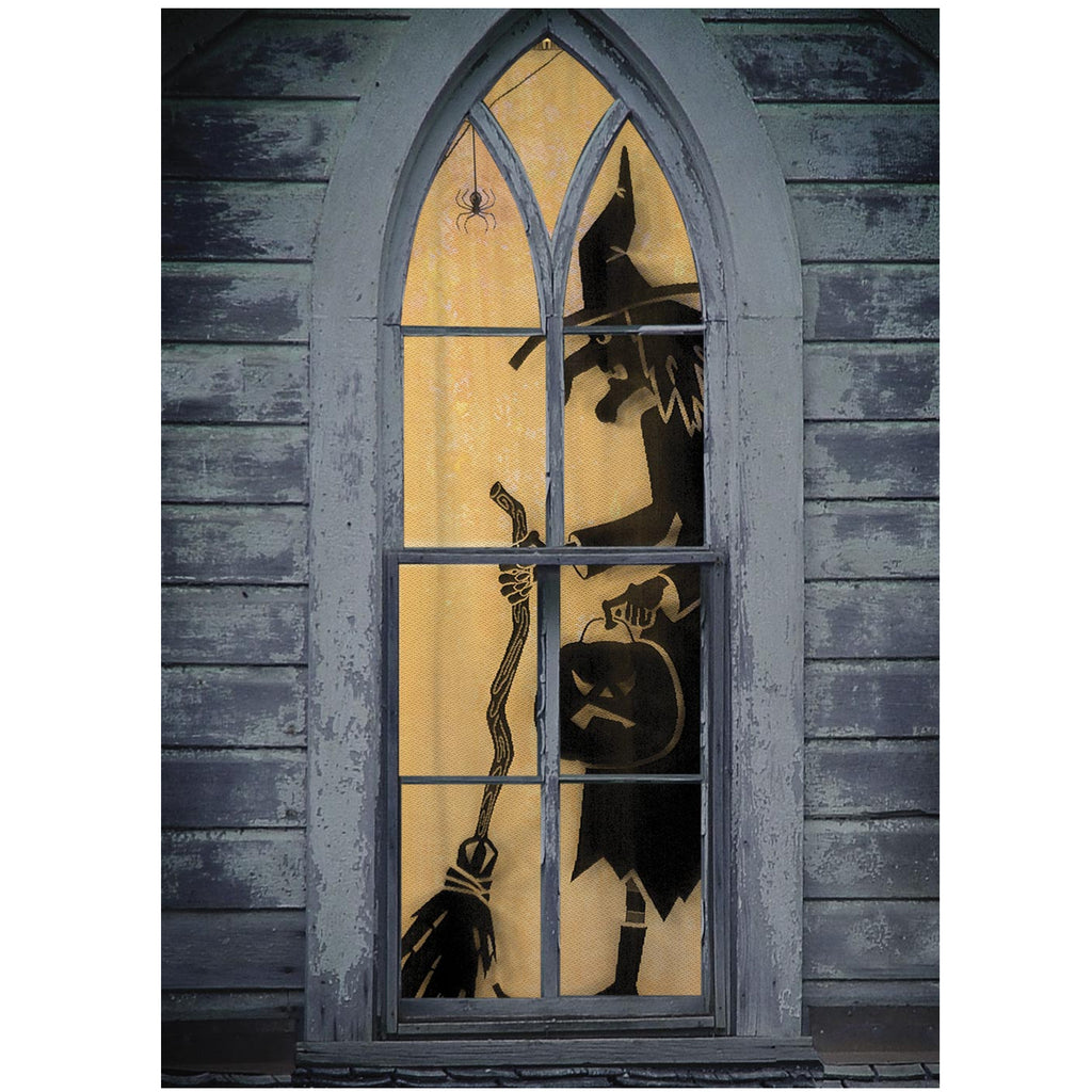 Halloween WITCH SCENIC PANEL Polyester Made In Usa 7055B3884