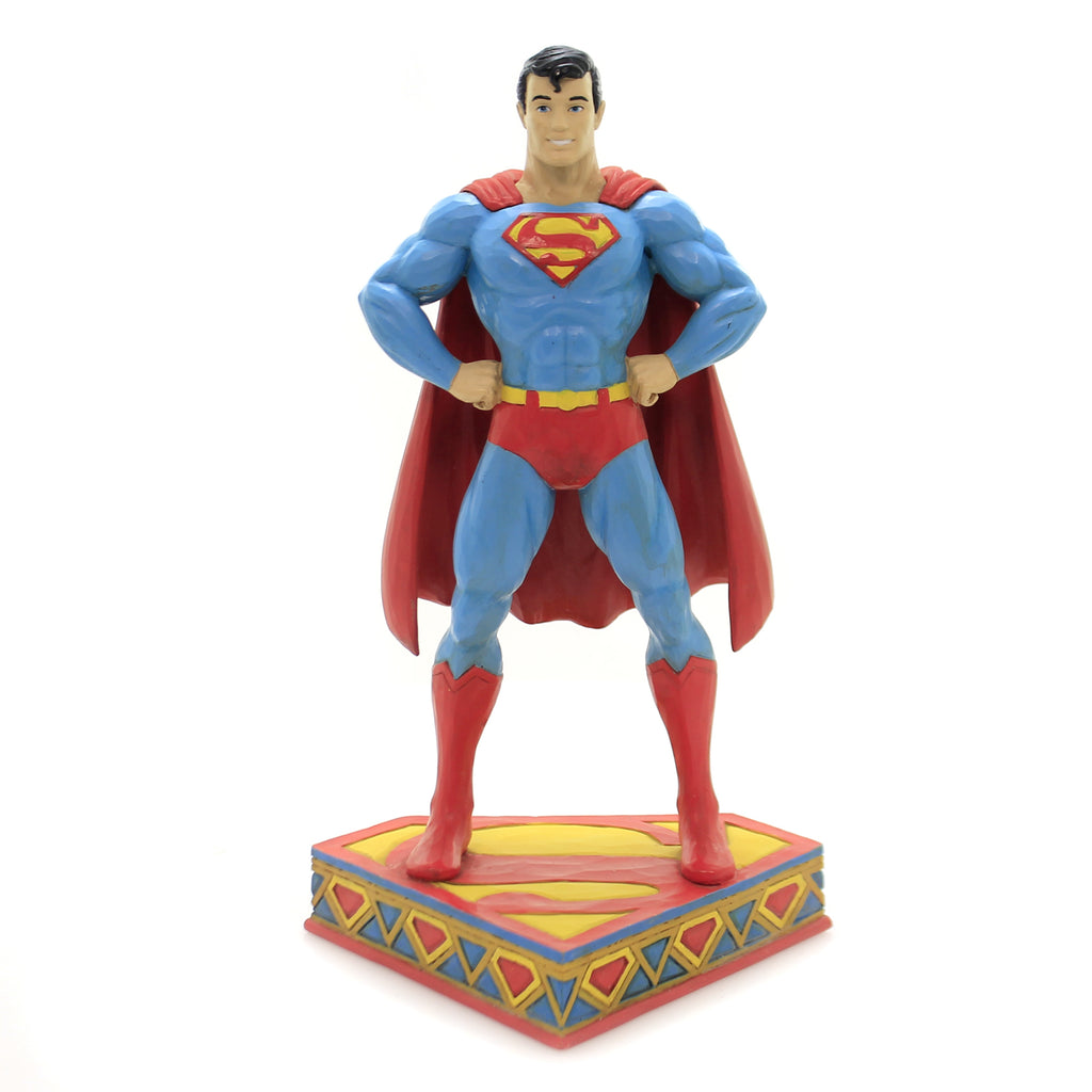 Jim Shore MAN OF STEEL Polyresin Superman Silver Age 6003021