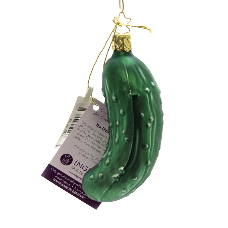 Inge Glas THE LEGENDARY PICKLE Glass Hide In Tree Extra Gift 10617S001