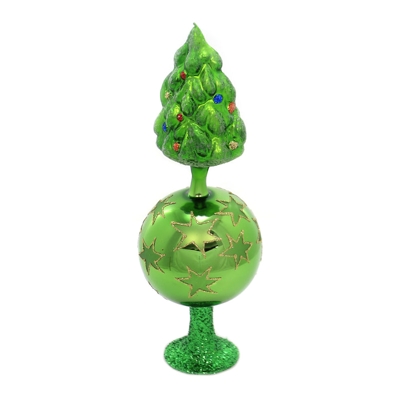 Inge Glas TREE OF CHRISTMAS Glass Tree Topper Free Standing 10229S019