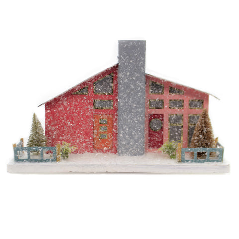 Cody Foster PINK MID CENTURY HOUSE Mcm Christmas Light Up 1950 Hou263 41137