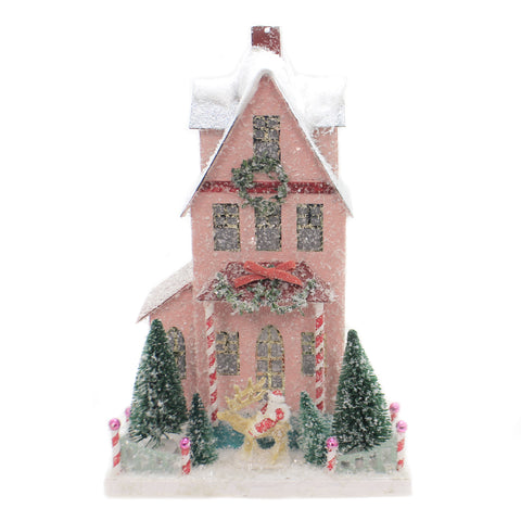 Cody Foster MERRY CHRISTMAS HOUSE Light Up Vintage Look Holiday Hou269 41146