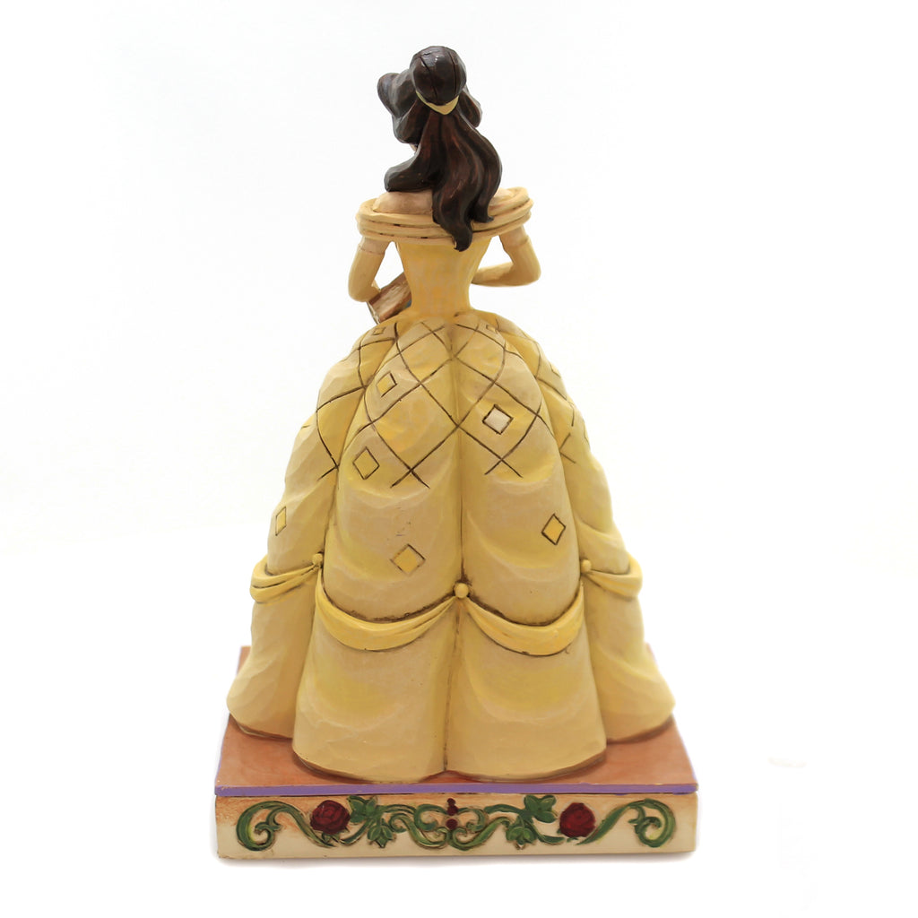 Jim Shore BOOK-SMART BEAUTY Polyresin Disney Princess Belle 6002818