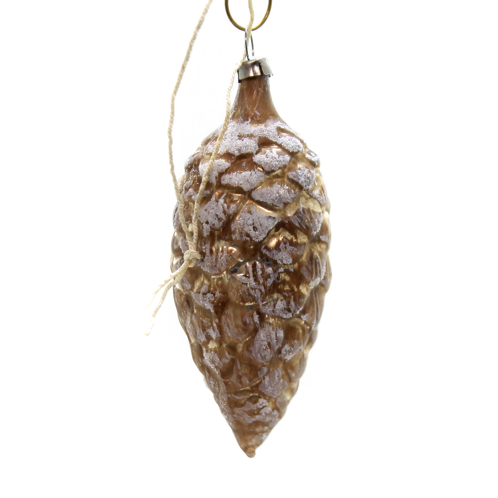 Marolin PINECONE SANTA FACE Glass Ornament Feather Tree 2011006
