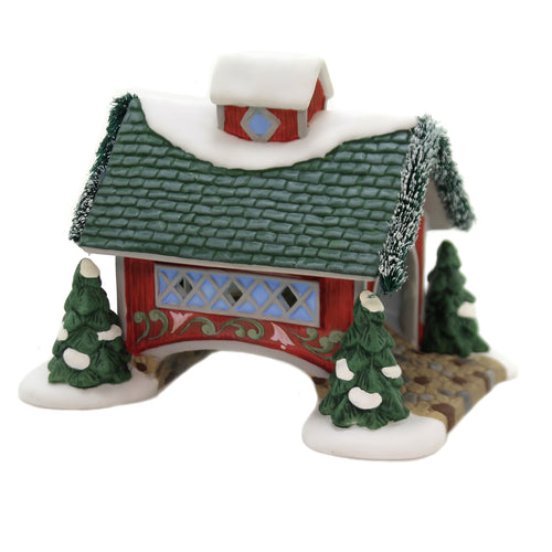 Department 56 Accessory WHITE ROSE COVERED BRIDGE Jim Shore New England 6003105