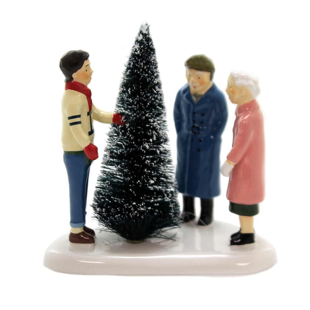 Department 56 Accessory CHOOSING THE PERFECT TREE Ceramic Snow Village 6003148