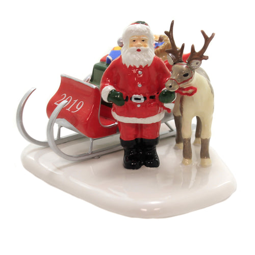 Department 56 Accessory SANTA COMES TO TOWN 2019 Dated Snow Village 6003152