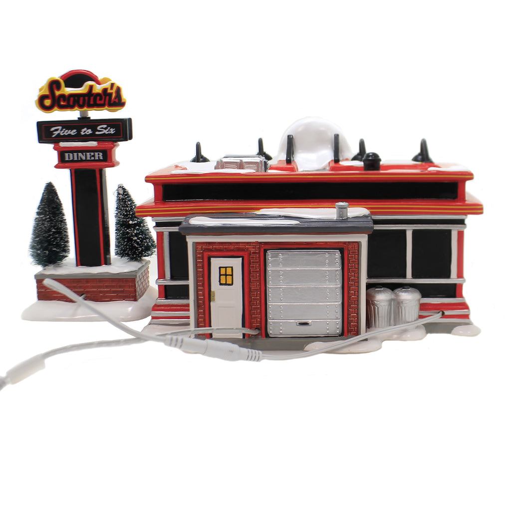 Department 56 House SCOOTER'S DINER Ceramic Food Breakfast Lunch Dinner 6003135