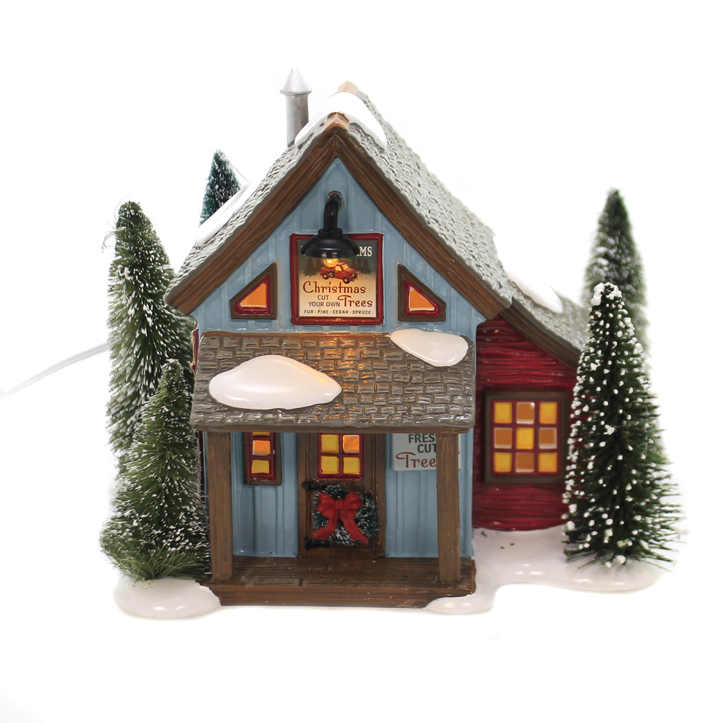 Department 56 House VILLAGE FARMS TREE LOT Ceramic 910,114,404,397, 6003137