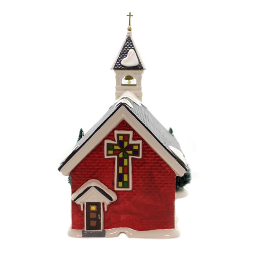 Department 56 House MOUNT OLIVE CHURCH Ceramic Snow Village 6003134