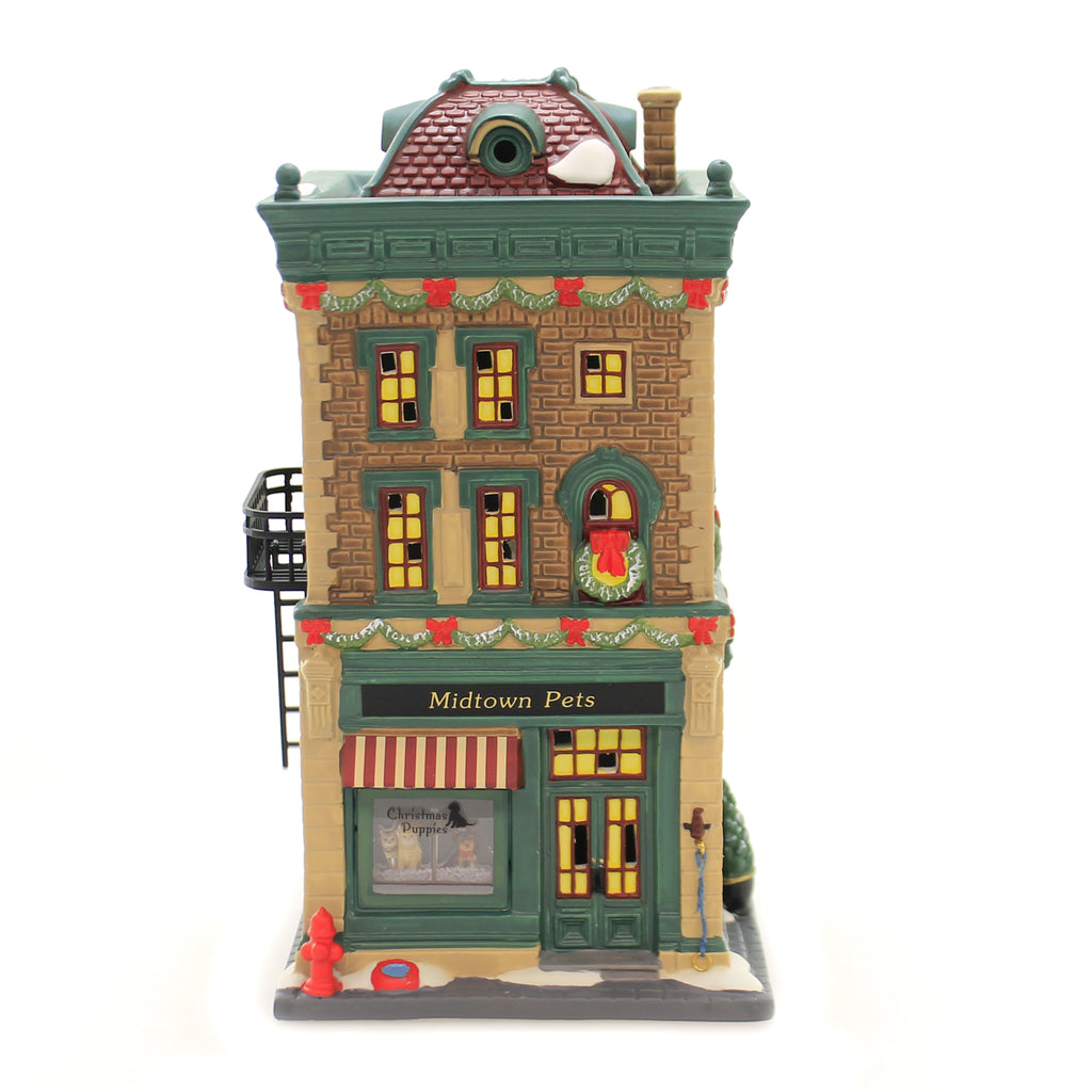 Department 56 House MIDTOWN PETS Porcelain Christmas In The City 6003058