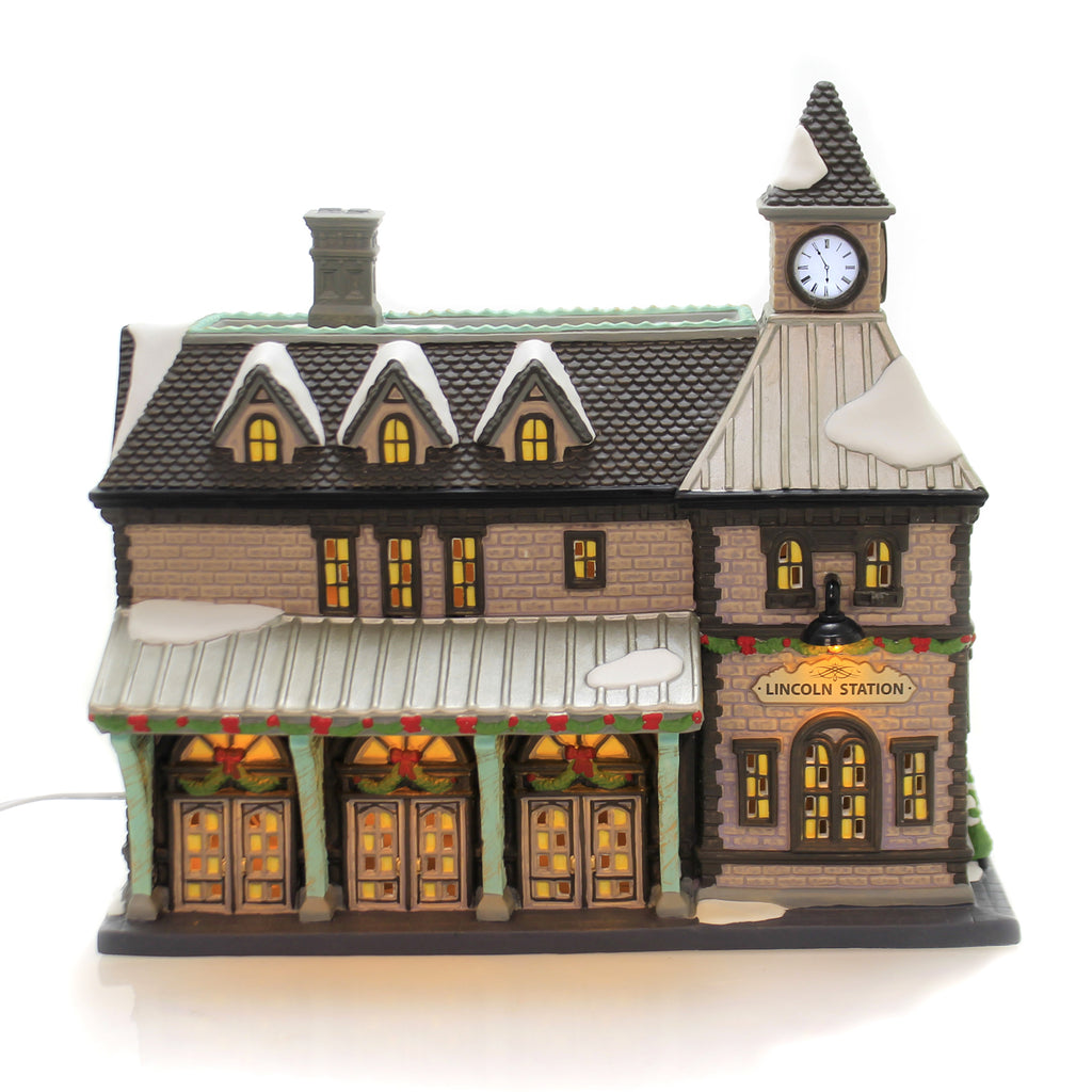 Department 56 House LINCOLN STATION Porcelain Christmas In The City 6003056