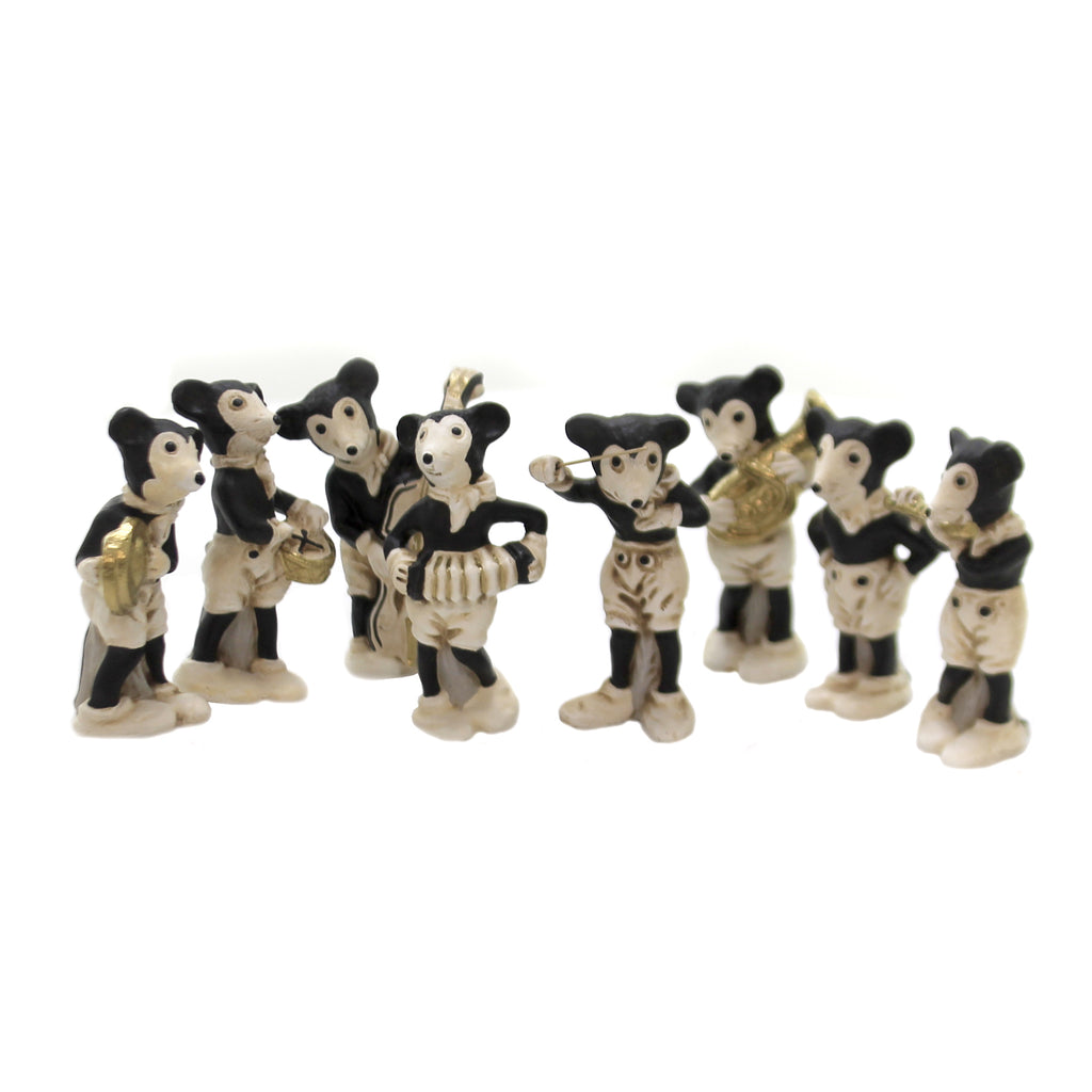 Marolin MOUSE BAND SET / 8 Paper Mache German Vintage Mickey 4300