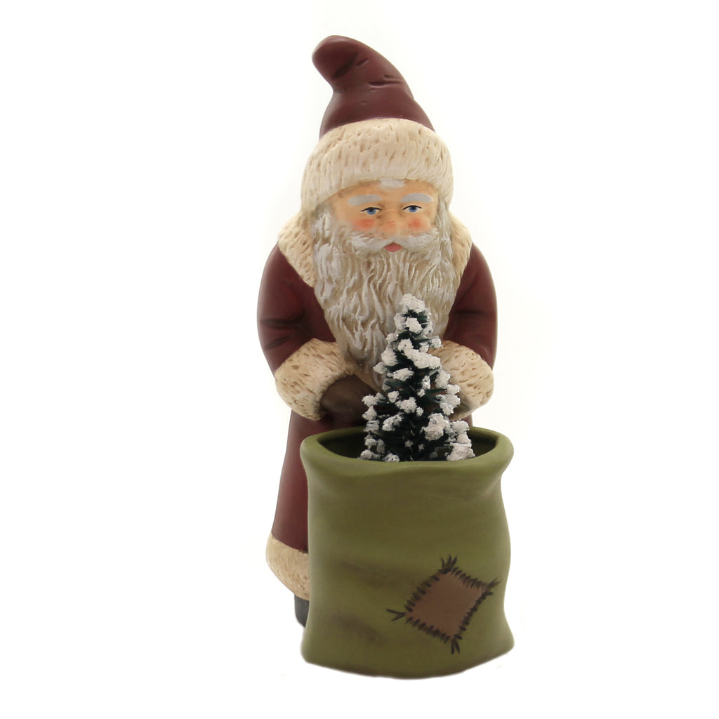 Marolin SANTA w/ SACK Paper Mache Christmas Nicholas German 640