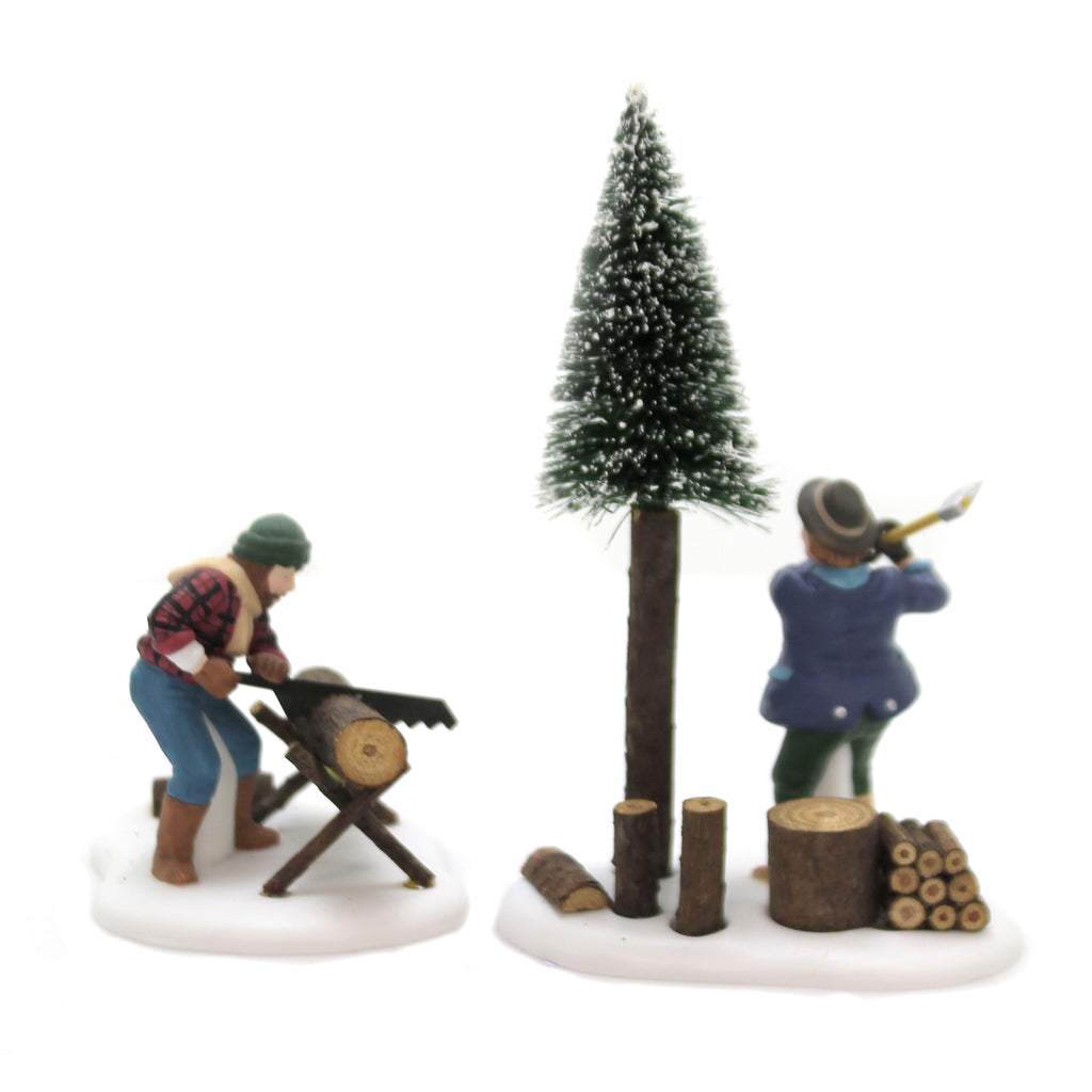 Department 56 Accessory LUMBERJACKS SET/2 Newengland Village Retired 56590