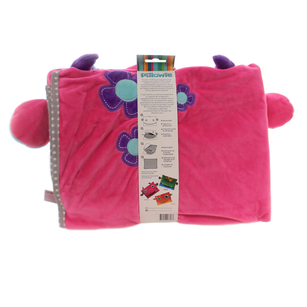 Child Related TAGALONG PILLOW & BLANKET SET Fabric Tote Preschool Kitoo123 Pink