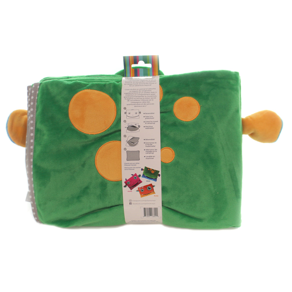 Child Related TAGALONG PILLOW & BLANKET SET Tote Preschool Kitoo123 Green