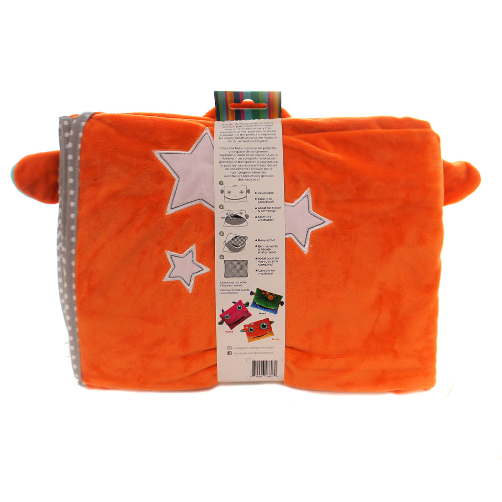 Child Related TAGALONG PILLOW & BLANKET SET Tote Preschool Kitoo123 Orange