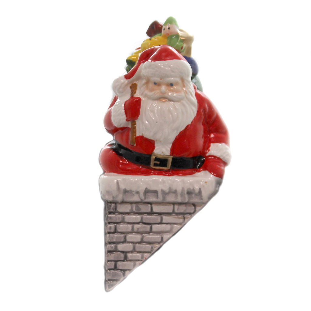 Department 56 Accessory DOWN THE CHIMNEY HE GOES Snow Santa Chrstmas Eve Retired 51586